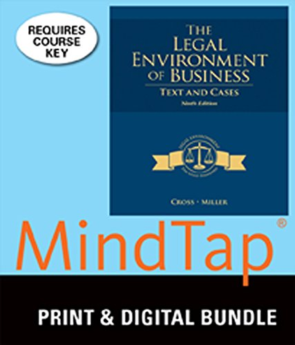 Bundle: The Legal Environment of Business: Text and Cases, 9th + MindTap Business Law, 1 term (6 months) Printed Access