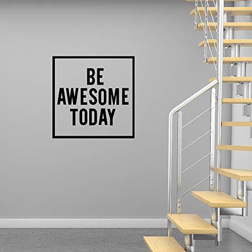 Hoy impresionantes pegatinas de pared de vinilo motivación letras calcomanías de pared de oficina arte pegatinas de pared decoración de la habitación pegatinas 43 * 43 cm