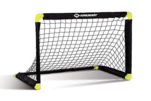 Schildkröt Folding Soccer Goal, faltbares Fußballtor mit innovativer Falttechnik, aus Kunststoff, 90 x 60 x 60cm, freistehend für In- und Outdoor, inklusive 4 Erdhaken, 970987