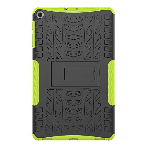 Sunrive Für Xiaomi Mi Pad 2 7,9 Zoll, Hülle Tasche Schutzhülle Etui Hülle Hybride Silikon Stoßfest Zwei-Schichte Armor Design schlagfesten Ständer Slim Fall(A grün)
