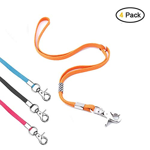 CLCK 4 Pack Pet Dog Grooming Loops - Nylon Restraint Noose Adjustable Fixed Dog Cat Safety Rope for Pet Grooming Table Bathtub Dog Bathing Supplies - 22 inches (4Pack)