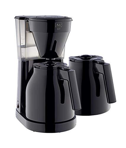 Melitta 1023-06 Easy Therm + 2 Kannen Filterkaffeemaschine, Kunststoff schwarz