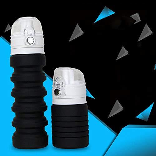 500 ml plegable taza de silicona 500 ml capacidad telescópica beber taza plegable tazas de camping