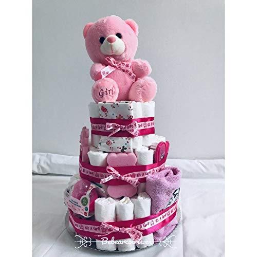 Bebearcoiris.es - Tarta de pañales dodot it's a girl recien nacida rosa bebé (rosa)