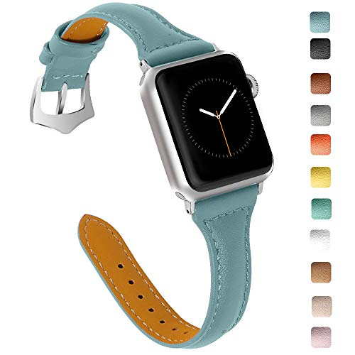 OULUCCI Compatible Apple Watch Band 38mm 40mm, Top Grain Leather Band Replacement Strap for iWatch Series 7, Series 6, SE, Series 5, Series 4,Series 3,Series 2,Series 1,Sport, Edition