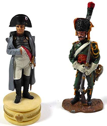 OPO 10 - Lote de 2 Figuras Soldados 1/32 60mm (LS) Napoleón 1o + Regimiento de Cazadores a Caballo (N01 + N15)