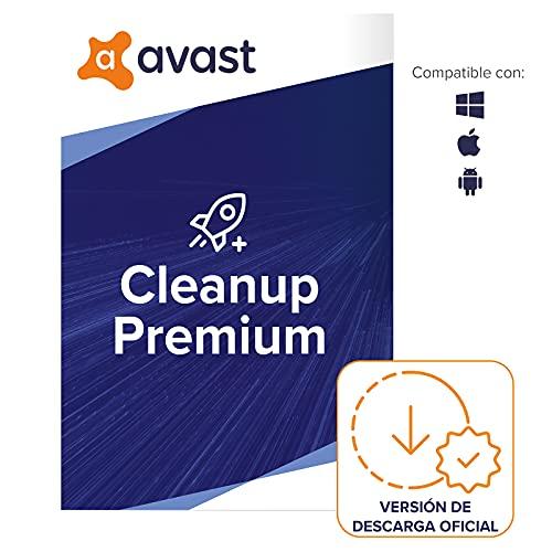 Avast Cleanup Premium - Elimina los archivos no deseados y acelera el sistema operativo | 10 Dispositivo | 1 Año | PC/Mac | Código de activación enviado por email