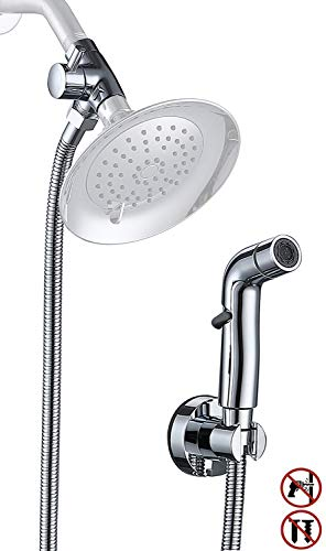 Dog Shower Sprayer Attachment for Fast and Clean Pet Showering | Multifunctional Sprayer, Metal Diverter, 100 Inch Extra Long Hose, No Drill Hook | Dog Washing-Bathingroom (Chrome)