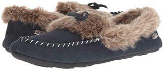 Acorn(エイコーン) レディース 女性用 シューズ 靴 スリッパ Cozy Fur Moc - Mineral Blue [並行輸入品]