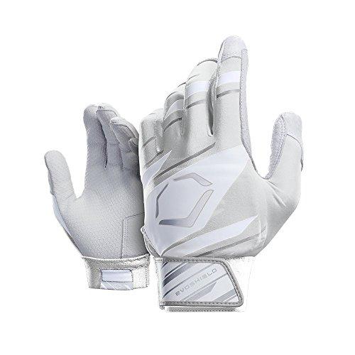 EvoShield Protective Speed Stripe Batting Gloves, White/Grey, Large