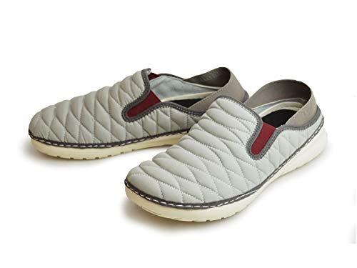 [ウイルソン] 2WAY スニーカー メンズ スリッポン サボサンダル カップインソール アウトドアシューズ カジュアルシューズ キルティング素材 ストレッチ 軽量 屈曲性 靴 Gray LL(27.5-28cm相当)