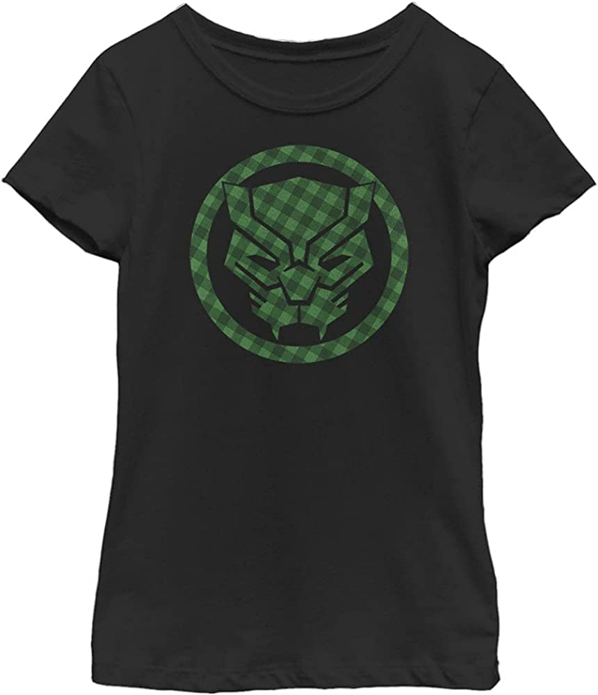 Marvel Avengers Classic Lucky Panther Girl's Solid Crew Tee