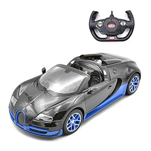 LJW 1/14 Scala Convertible Control Remoto Deportes Coche USB Cargando Coche eléctrico Crash Crash y Resistente a la caída RC Sporty Car Wireless Drift RC Racing Gifts para niños y niñas (Color: Azul)