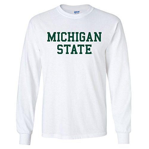 NCAA Offizielles Lizenzprodukt College – University Basic Block Langarm T-Shirt - Weiß - X-Groß