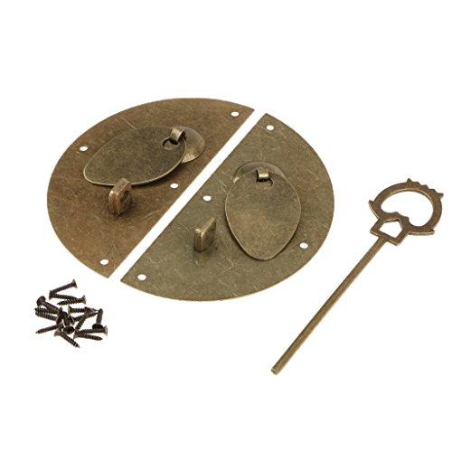 Puerta De Estilo Antiguo Chino Knocking Cabinet Pulls Latch Lock Muebles Gabinete Maleta De Madera Hardware