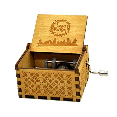 Sooye Spieluhr Der Herr der Ringe – 18 Noten Mechanismus antik geschnitzte Spieluhr Handwerk Melodie Schloss in der Hand (Der Herr der Ringe)