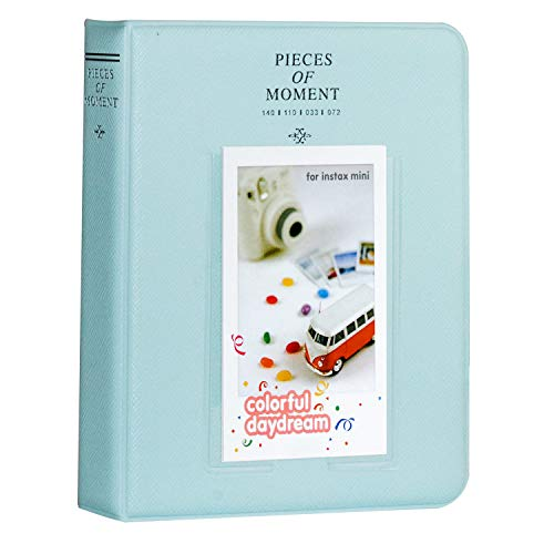 Cpano 64 Taschen Fotoalbum für Fujifilm Instax Mini 11/Mini 9/ Mini 8/Mini 90/Mini 25/ Instax Mini Liplay/Polaroid Snap PIC-300/HP Sprocket/Kodak Mini 3-Zoll-Film.(Eisblau)