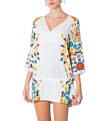Desigual Top_Maui Swimwear Cover Up, Bianco, S Donna