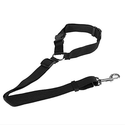 Fodlon Cane Cintura di Sicurezza Cablaggio per Cani Cintura di Sicurezza per Auto per Animali Domestici Guinzaglio Regolabile Materiale in Tessuto di Poliestere