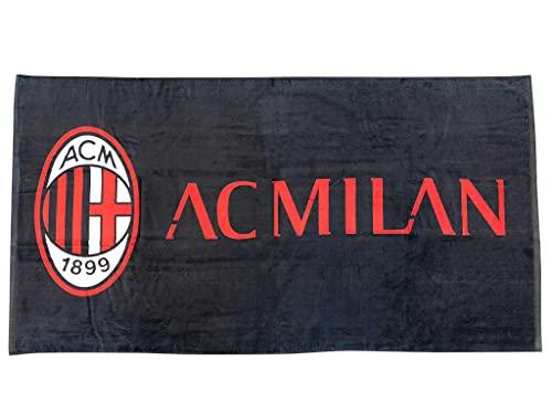 hermet A.C. Milan Telo Mare In Spugna Cm.90x170, 100% Cotone, Prodotto Ufficiale