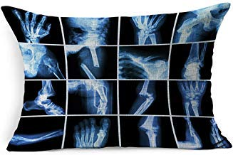 DarrenOw02 Collection Set Xray múltiples hueso fractura Fingerspinewristhiplegclavicleanklecobowarmfoot Healthcare Medical rectángulo fundas de cojín 16 x 24 para sala de estar, sofá, decoración al aire libre