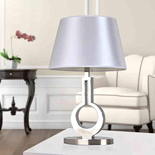 HYY-YY - Lámparas de mesa, personalidad simple moderna, creativas, de acero inoxidable, para dormitorio, luces de noche, lámparas de mesa, decoración para salón de lectura, luz nocturna