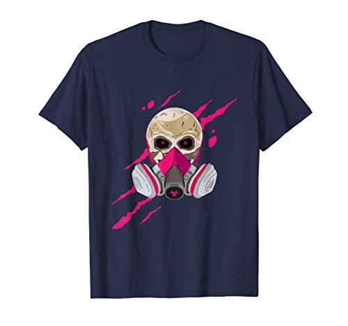 Schädel mit Maske, Totenkopf mit Gasmaske T-Shirt