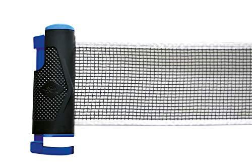 Donic-Schildkröt Tischtennisnetz Flex-Net, selbstspannendes Nylonnetz mit Aufrollmechnismus, für Tischbreiten bis zu 175cm, max. Plattenstärke 4,0 cm, 808334