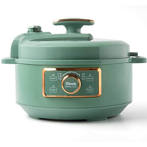 Geek Robocook Glam 3 liter Automatic Electric Pressure Cooker with Non Stick Pot, Teal