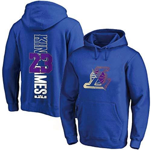 Las mujeres con capucha de baloncesto LeBron JamesJersey manga larga otoño invierno sudadera de los hombres y suelta la camiseta de baloncesto de la camiseta (Color : D, Size : XXXL)
