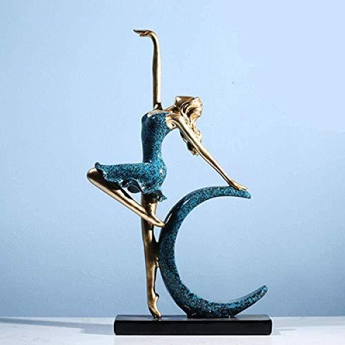 ahjs457 Decoración de la Estatua Decoración de la Escultura Decoración Creativa del gabinete de TV Sala de Estar Actor Actor Estatua 17.5 * 4.8 * 34.5cm