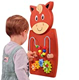 LEARNING ADVANTAGE - 50678 Learning Advantage Horse Activity Wall Panel - 18M+ - in Home Learning Activity Center - Wall-Mounted Toy for Kids - Decor for Bedrooms and Play Areas