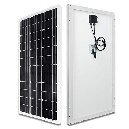 ECO-WORTHY 100 Watt 12 Volt Solarmodul Monokristallin Solarpanel Photovoltaik Solarzelle ideal für Garten Wohnmobil Caravan