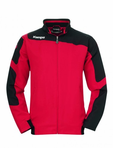 Kempa Jacke Tribute Web Jacket Mixte, Rouge/Noir, 3XL