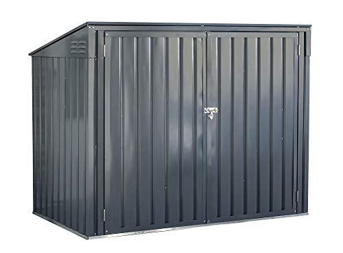 Arrow Shed 6' x 3' Storboss Horizontal Outdoor Padlockable Steel Storage Shed, Charcoal