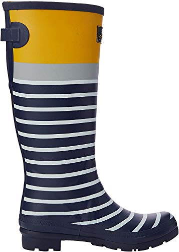 Tom Joule Damen Welly Print Gummistiefel, Blau (Navy Engineered Stripe Navengstrp), 40/41 EU