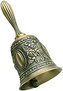 Hand Bell, Metal Jingle Service Call Bell,Multi-Purpose Metal Hand Call Bell for Wedding Decoration,School,Church,Classroom,Reception Dinner,Restaurant,Bar,Pet Feeding and Home Decoration