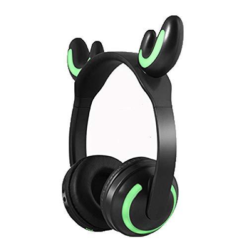 SFBBBO Auriculares Dibujos Animados Lindos Auriculares Bluetooth Gato Gatito Auricular inalámbrico estéreo de Alta fidelidad con micrófono Regalo para Esposa Novia Deerears