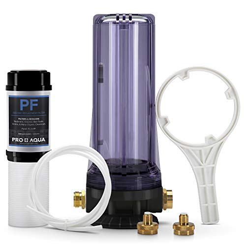 PRO+AQUA Premium Dual RV/Marine Water Softener Regeneration Kit and Water Filter, Reduces Bad Taste, Odor, Sediment, Chlorine