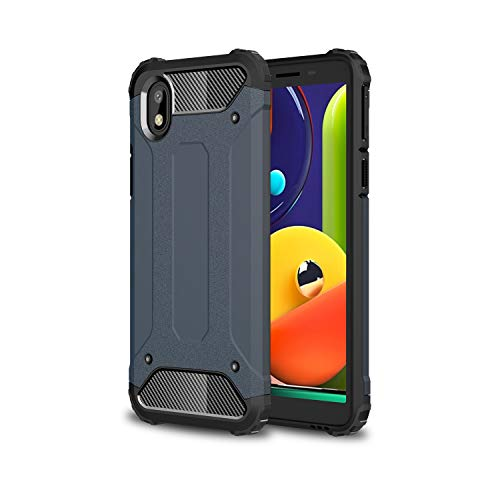 FANFO Samsung Galaxy M01 Core/A01 Core Funda, protección contra Golpes de TPU + PC Resistente a arañazos (Doble Capa) Carcasa para Samsung Galaxy M01 Core/A01 Core, Azul Marino