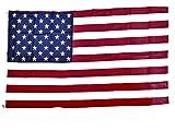 Drapeau Américain / Tissu Denier Epais Robuste / Souvenir/Etoiles et Rayures Rouge/Blanc et Bleu/US Old Glory 4 juillet 150 x 90 cm Pour l'extérieur ou l'intérieur Deux œillets