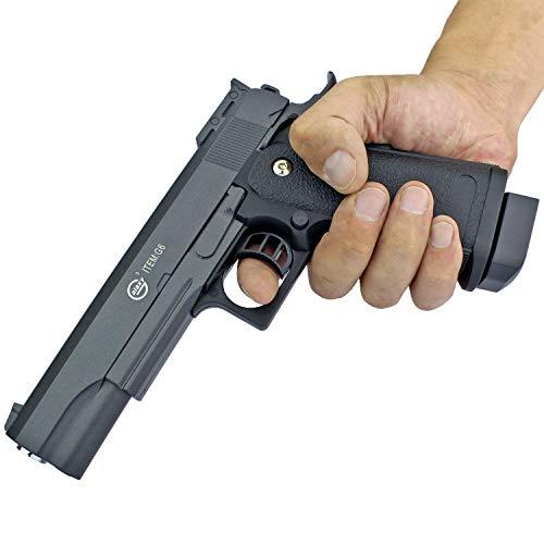Softair Gun Airsoft Pistole + Munition | G6. Profi Vollmetall | 22cm. Inkl. Magazin & 0,5 Joule