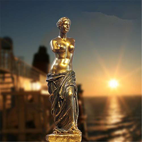 YUELI Moderne Statue Skulptur Artemis Jagd Statue Mondgöttin Griechische Mythologie Figur Skulptur Harz Handwerk Home Dekoration, Gelb