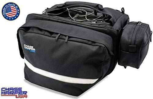 Chase Harper USA 3300 Saddle Bag Set - Water-Resistant, Industrial Grade Ballistic Nylon w/Thermoplastic Insert, Anti-Scratch Material on Inward Facing Wall
