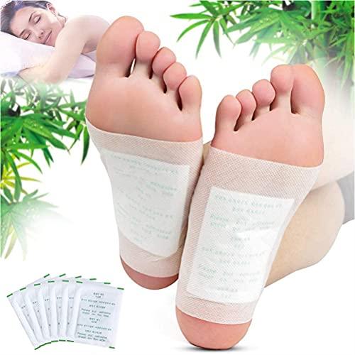 KINDAX 100pcs Cerotti Detox Per Piedi, Cerotti Disintossicante per Rimuovere Tossine, Attivare il Metabolismo, Migliorare la Circolazione, Aumentare l'Energia, Foot...
