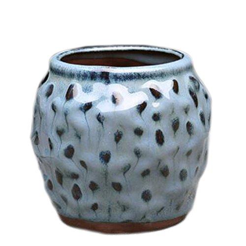 Black Temptation Garden Creative Mini Desk Céramique Flower Pots Container Planters-C02