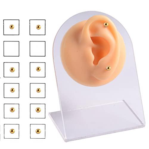 12 pendientes magnéticos de cristal, para nariz, labio, no perforación, para mujer, hombre, acero magnético, cristal falso, nariz, labio, clip para belleza