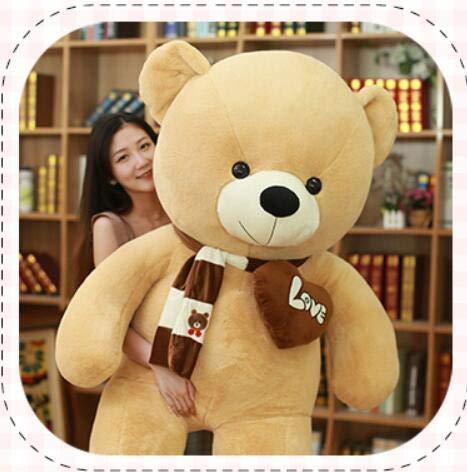 80-100 cm 1 m de fábrica osos directos gigantes llenos llenos grande grande oso de peluche peluche peluche rosado niños regalo de cumpleaños muñecas de peluche ligero color marrón 80 cm altura, tamaño