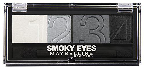 Maybelline Eyestudio Quattro Lidschatten, 4 optimal aufeinander abgestimmte Farben, für ein professionelles Schmink-Ergebnis, mit ultra-feinen, schimmernden Farbpigmenten, 5 g, Nr. 19 smokey star