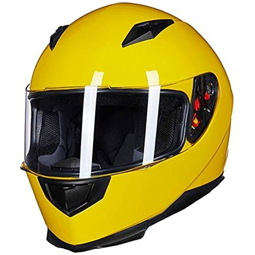 Qianliuk Full Face Motorradhelm Mit Abnehmbarem Winter Hals Schal Und 2 Visisoren Fashion Quick Release Helm Matte Black S-XL